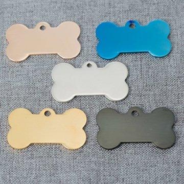 Edelstahl Hundemarke Knochen mit Gravur