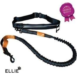 ELLIE Premium Jogging Hundeleine mit verstellbarem Bauchgurt