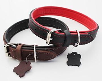 Hundehalsband Echt-Leder