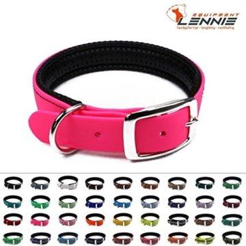 Hundehalsband mit Dornschnalle in Neon Pink