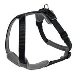 Hunter Hundegeschirr Neopren, L, schwarz/grau