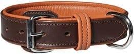 Knuffelwuff Hundehalsband mit Schnallenschutz, 50-58 cm, braun