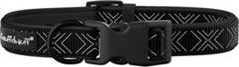 Knuffelwuff Neopren Hundehalsband gepolstert, 35-50 cm, schwarz