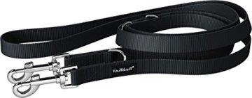 Knuffelwuff Nylon Hundeleine Active 210 cm, 2,5 cm, schwarz