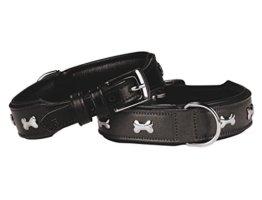 Nobby Leder Halsband Cerro, schwarz-braun