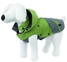 Outdoor Hundemantel, 30 cm, grün/grau