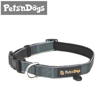 Pets'nDogs Hunde-Halsband aus hochwertigem Nylon mit softem Neopren-Futter