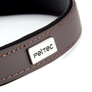 PetTec Hundehalsband aus Trioflex Gr. S, Braun