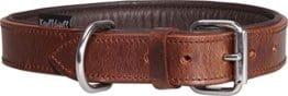 Weiches Basic Lederhalsband in Braun